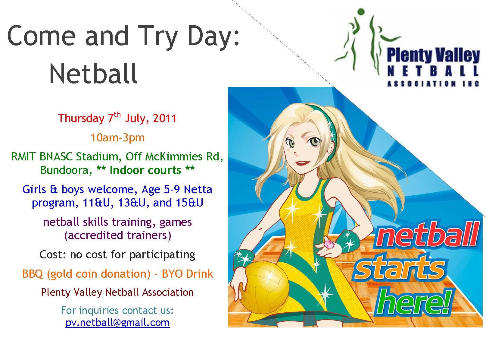 Plenty Valley Netball Association